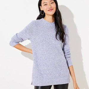 LOFT Women's NWT Marled Mock Neck Sweater